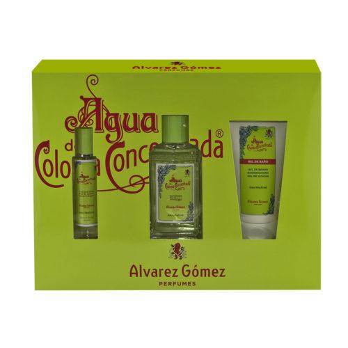 Estuche Alvarez Gómez verde Eau Fraiche 150 ml + 30 ml + Shower gel 150 ml